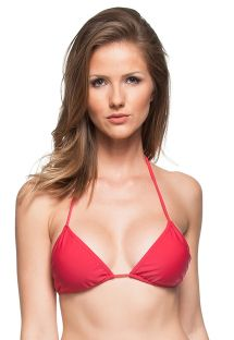 Dark pink triangle sliding bikini top - TOP BROMELIA CORAL