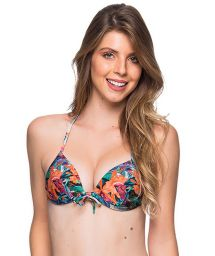 Tropical print push-up triangle top - TOP CORTINAO NORONHA FLORAL