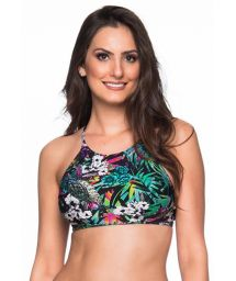 Colorful floral crop top - TOP CRUZADO ATALAIA