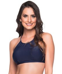Navy blue crop top - TOP CRUZADO MIRAMAR