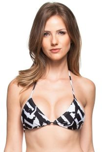 Black and white triangle bikini top - TOP ENCONTRO DAS AGUAS