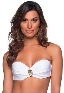White side-tie bikini bottom - TOP FAIXA BRANCO