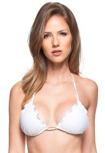 Weißer Bikini Top mit Klunkern und Schmucksteinen - TOP FAIXA DE AREIA