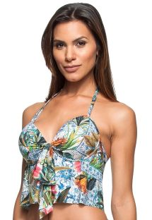 Floral padded crop top with underwire - TOP FIGO DA INDIA