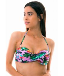 Bandeau top with colorful Cuba print - TOP ILHA DE CAPRI