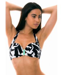 Black & white balconette bikini top - TOP LAGO MICHIGAN