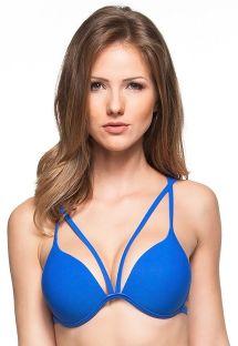 Blauw strappy bikinitopje met voorgevormde cups - TOP LIRIOS AZUIS
