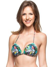 Triangle padded bikini top - Cuba print - TOP LUZ DE ACACIAS