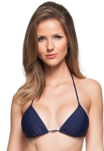 Navy blue sliding triangle bikini top - TOP MAHO BEACH