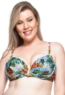 Kwiatowy top balkonetka plus-size - TOP MAR COLORIDO