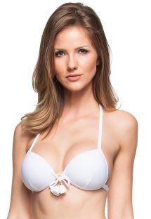 Weißes Bügel-Push-up-Bikinioberteil - TOP PRAIA JAMAICANA