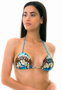 Padded triangle sliding top - Cuban print - TOP SANTO DOMINGO