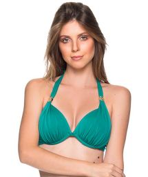 Green accessorized halter top - TOP TURBINADA ARQUIPELAGO