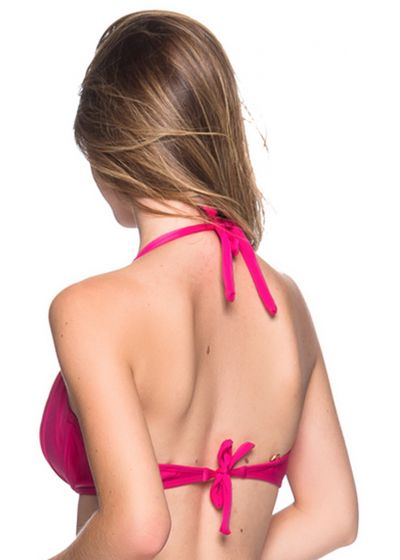 Accessorized pink halter top - TOP TURBINADA TROPICALIA