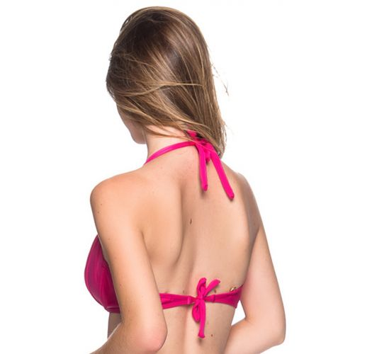 Accessorized pink halter top - TOP TURBINADA TROPICALIA