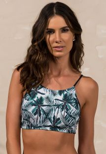 Bikini-crop-top med palmeprint - SOUTIEN CROPPED COCONUT