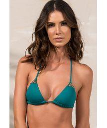 Dark green triangle bikini top - SOUTIEN GOLD GREENLIKE