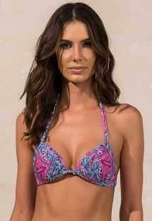 Blue and pink balconette bikini top - SOUTIEN JANE TULUM