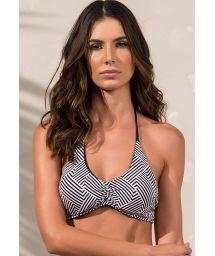 Two-tone geometric strappysports bra style bikini top - SOUTIEN RIALTO ZIGGY
