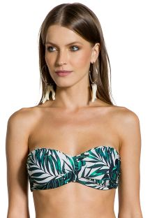Padded top with foliage print - TOP LOLITA FOLHAGENS