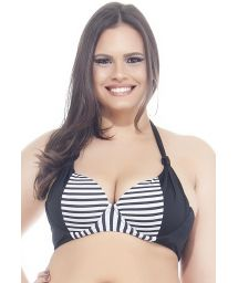 Large cup size striped underwired triangle top - SOUTIEN LISTRADINHO