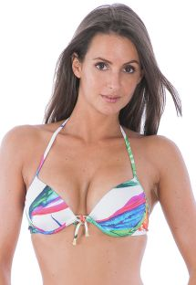 Haut balconnet push up multicolore avec armatures - SOUTIEN ACQUERELLO IATE