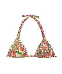 Printed scarf-effect triangle bikini top - SOUTIEN CERAMICHE ROSSO