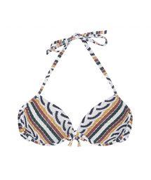 Printed balconette bikini top with underwires - SOUTIEN CORDA SICILIANA