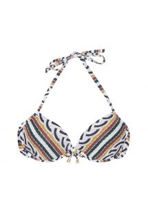 Printed balconette bikini top with underwires - SOUTIEN CORDA SICILIANA