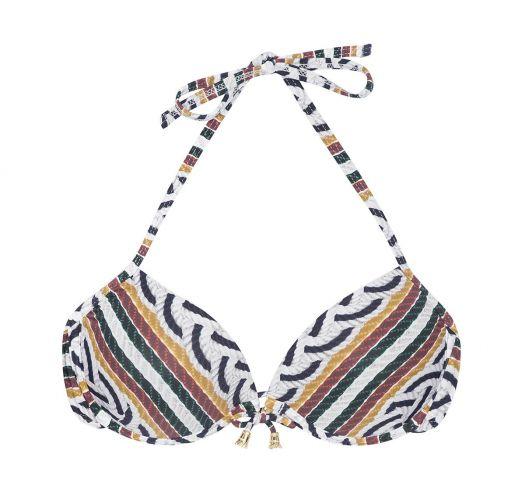 b24e36827549 Mønstret balconette bikini-top med bh-metalbøjler - SOUTIEN CORDA SICILIANA