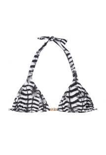 Haut de bikini triangle foulard noir et blanc - SOUTIEN FALCO