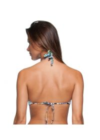 Lace-up crop bikini top in a multicoloured print - SOUTIEN ILHOS LETOH