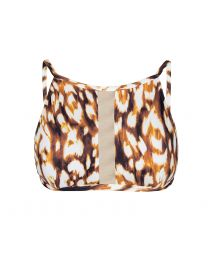 See-through animal-style high crop top - SOUTIEN LEOPARD RIVA