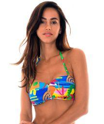 Zipped bandeau top in colourful naïve print - SOUTIEN MATISSE IGUAL