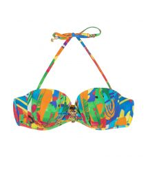 Padded bandeau top in a multicoloured naive print - SOUTIEN MATISSE PREGAS
