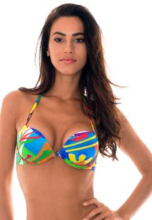 Colourful naïve pring push-up balconnette top - SOUTIEN MATISSE SUPER