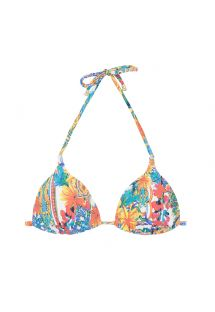 Colourful print padded triangle bikini top - SOUTIEN MINI CERAMICHE