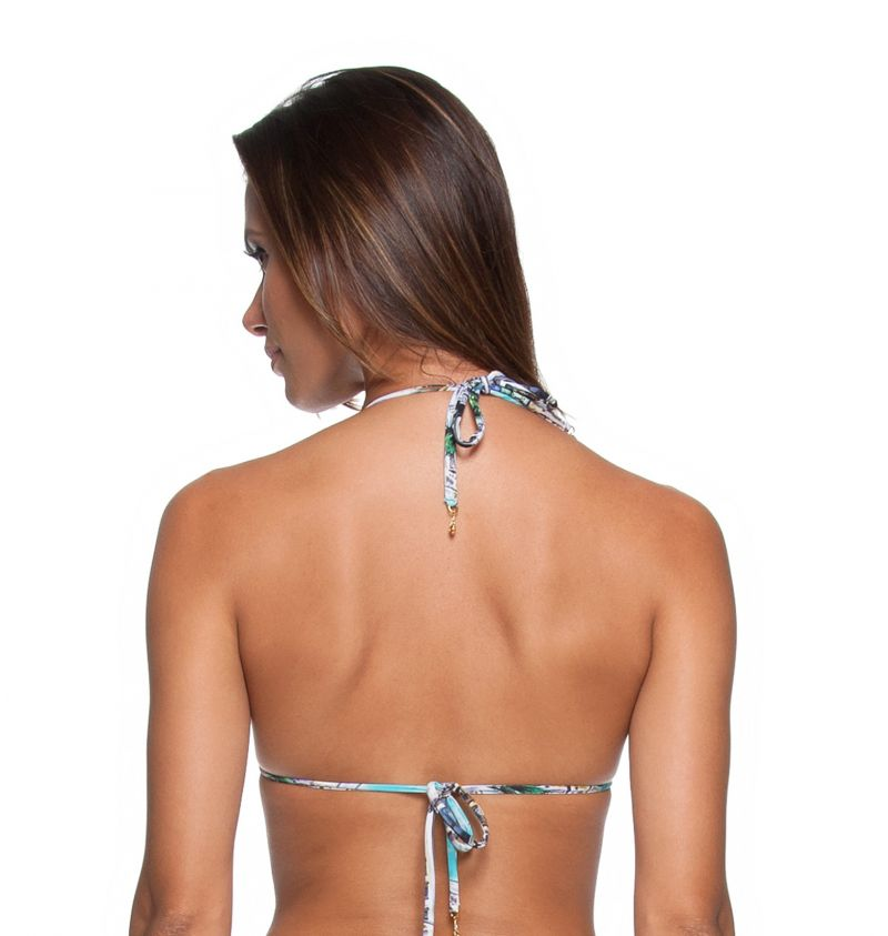 Printed sliding triangle bikini top with padded cups - SOUTIEN MINI LETOH