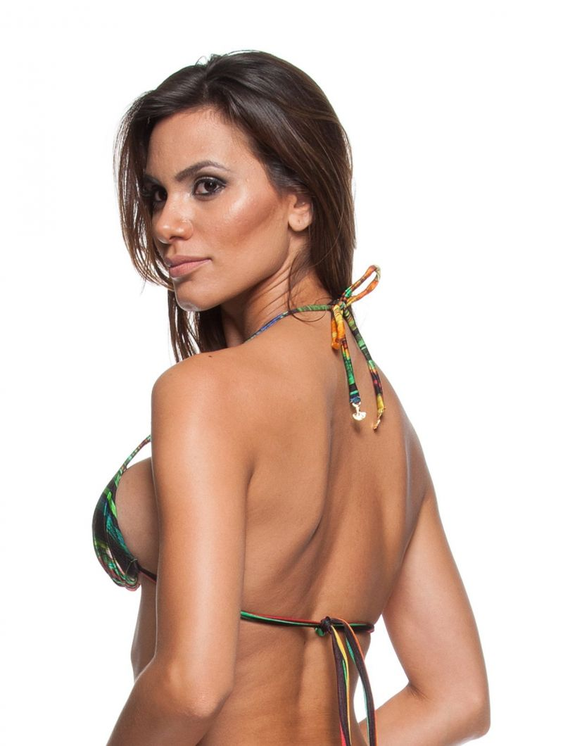 Padded triangle bikini top in a colourful print - SOUTIEN MINI PINTURA