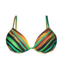 Padded balconette top with painted-style stripes - SOUTIEN PINTURA LISTRA
