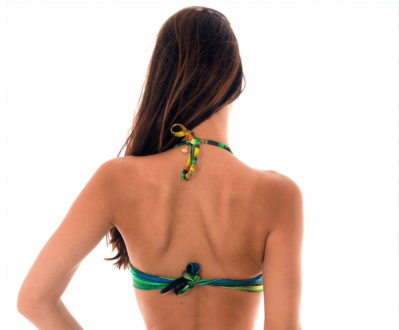 Multicolour padded bandeau bikini top - SOUTIEN PINTURA QUADRADO