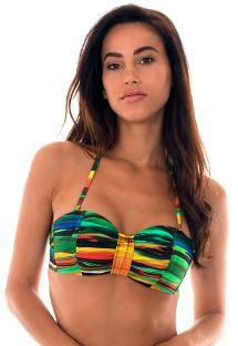 Rengarenk yastıklı bandeau bikini üstü - SOUTIEN PINTURA QUADRADO