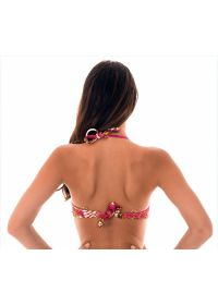 Underwire balconette bikini top in a pink and gold print - SOUTIEN ROCOCO PINK