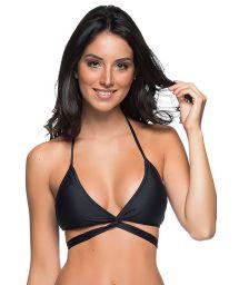 Black wrap bikini top - TOP BOJO CRUZADO PRETO