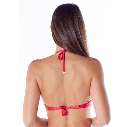 Red push-up balconette bikini with underwire - TOP BOLHA DRAPEADA FIO IBIS