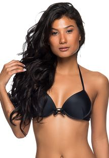 Verstellbares Balconette-Push-Up-Top, schwarz - TOP BOLHA PRETO