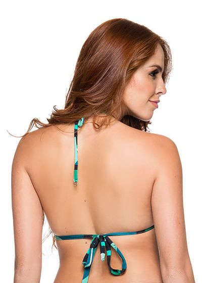 Graphic green padded triangle sliding top - TOP CORTINAO ESSENCE