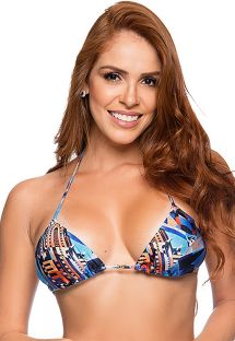 Printed triangle top removable pads - TOP CORTININHA CRYSLER
