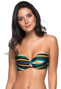 Padded accessorized bandeau top with stripes print - TOP FRANZIDO CLASSIC