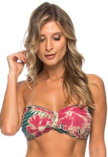 Top bikini con adornos de flores de hibisco - TOP HIBISCO COS